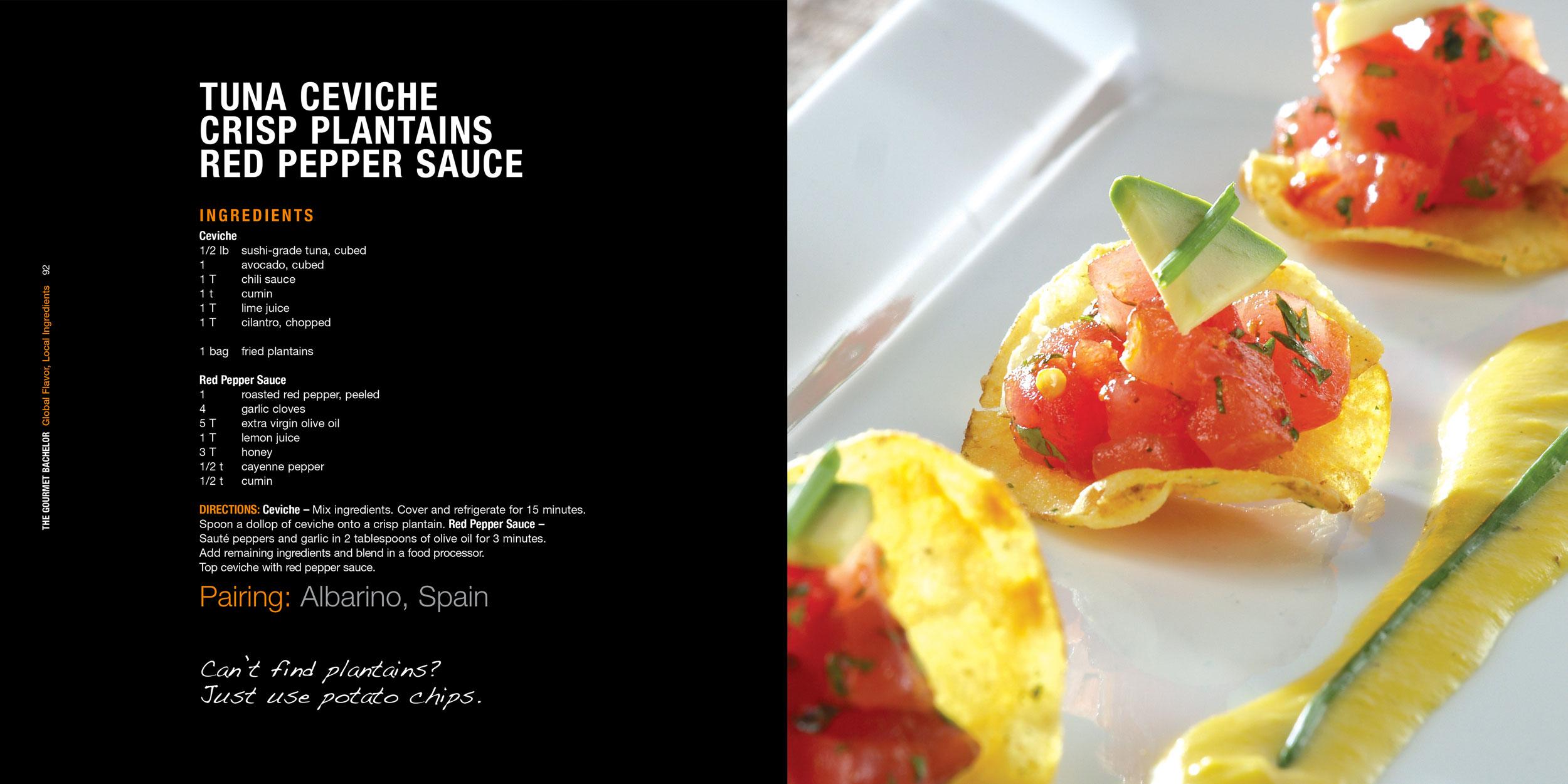 TGB_Tuna_Ceviche_Crisp_Plantanins_Red_Pepper_Sauce