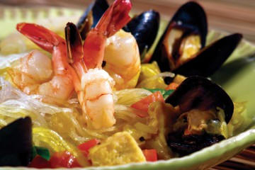 Singapore Noodle (Coconut Curry Seafood)
