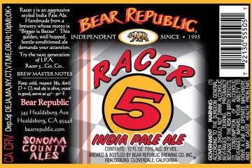 Racer 5 IPA by Bear Republic