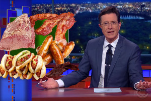 Stephen Colbert - How Can Cured Meat be Bad? It's got the word cure right in the name.
