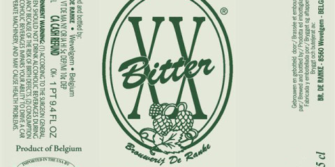 De Ranke XX Bitter or Extra Extra Bitter IPA is famous for it's very bitter and strong flavour